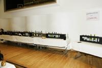 Bewertung des besten Weines bei der Genussrally auf der Weinmesse